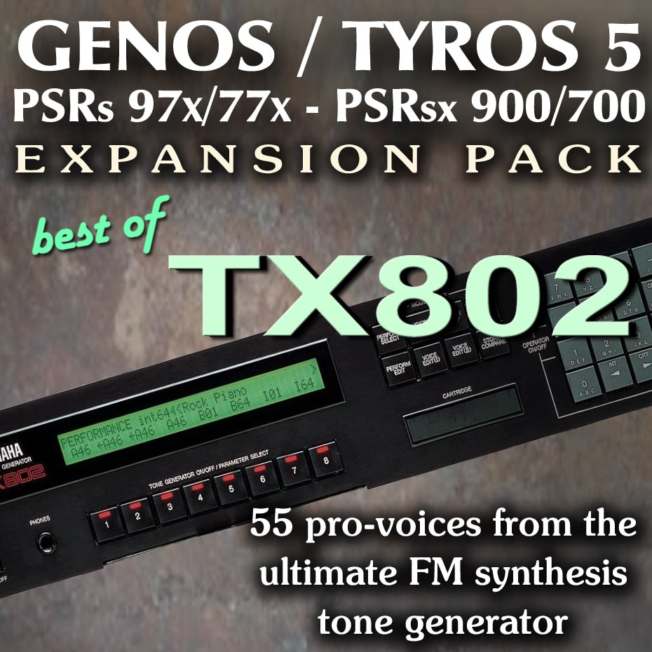 Yamaha Expansion Pack for Genos, Tyros, PSR - TX802